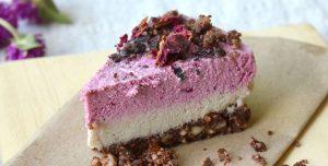 Raw Chocolate Beet Layered Dairy-free Cheesecake